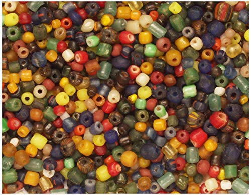 (Curious Designs Beads - Glass Tradewind Spacers - Assortment of 200+ Pieces, Many Colors,)