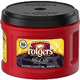 Folgers Black Silk, Dark Roast Ground Coffee, 24.2 Ounce (Pack of 3)