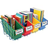 Really Good Stuff Magazine Book and Folder Holder & Rack - 4 Primary Colors
