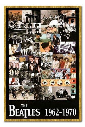amazon com the beatles 62 70 collage poster cork pin memo board