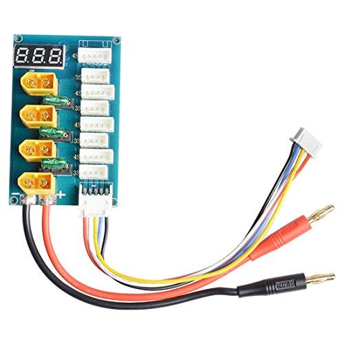 AKK XT60 Parallel Charging Board/Charge Plate Banana Plug Input for 3S 4S Lipo Battery