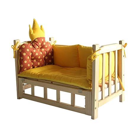 Casa de madera Ocultar para animales pequeños Nido de mascota nido de gato cama de madera ...