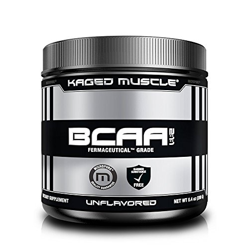 KAGED MUSCLE, Fermented BCAA Powder, Plant Based, Non-GMO, Protein Synthesis, Vegan Friendly Branched Chain Amino Acids, Aminos, BCAAs, Unflavored, 36 Servings