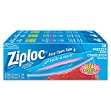 Ziploc Freezer Bags with Double Zipper Seal and Easy Open Tabs - Large - 84 Count (3x28count)