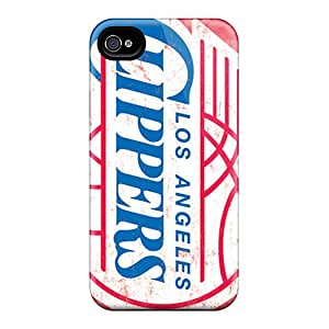 Bumper Hard Phone Cover For Iphone 4/4s (AGx10520Ycbn) Allow Personal Design Colorful Los Angeles Clippers Pattern