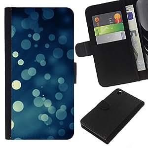 A-type (Bokeh copos de nieve Nevando Navidad) Colorida Impresión Funda Cuero Monedero Caja Bolsa Cubierta Caja Piel Card Slots Para HTC DESIRE 816