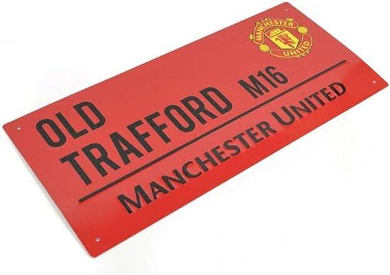 MUFC Panneau de Rue en m/étal Officiel Manchester United Old Trafford 40 cm x 18 cm