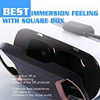 [2018 Version] Pansonite 3D Virtual Reality Headset for VR Games & 3D Movies, Anti-Blue-Light Lenses and Stereo Headset for Your Best Experience,Compatible with iPhone and Android Smartphones by Pansonite