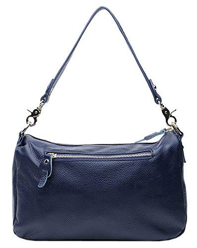 épaule bandoulière à De Femmes main Sacs Couche Sacs Cuir Nouveau Bleu SAIERLONG portés Première Sacs Noir Royal H67n8w