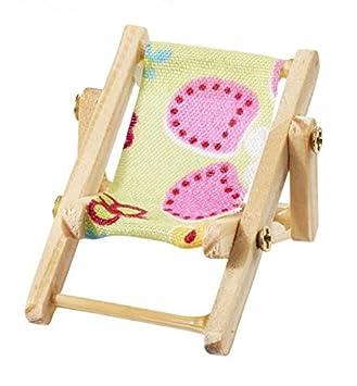 Mini Longue 5 Déco Plage Chaise Figurine Party Cm Vacances Jaune 6Y7ygvbIf