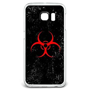 Biohazard Warning Symbol Red Zombies Distressed Snap On Hard Protective Case for Samsung Galaxy S6 Edge