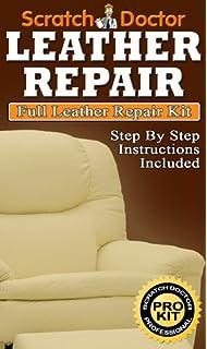 DARK GREEN Leather SofaChair Repair Kit for tears holes scuffs