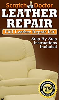 RED Leather Repair For Leather Sofa Chair.