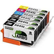 JARBO 5 Color Compatible Ink Cartridge for HP 564 High Yiled, 1 Set+1 Black, Used in HP Photosmart 5520 6520 7520 5510 6510 7510 7525 B8550 C6380 D7560 Premium C309A C410 Officejet 4620 Deskjet 3520