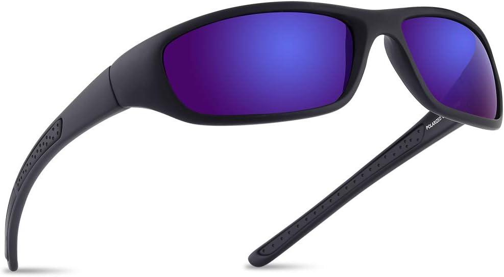 Vimbloom Hombre Gafas de Sol Deportivas polarizadas para béisbol, Atletismo, Pesca, Ciclismo, Golf VI367
