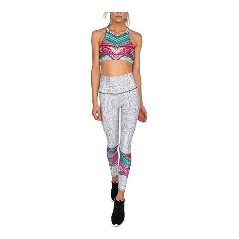 Ropa deportiva para mujer, Damas sin mangas de yoga halter ...