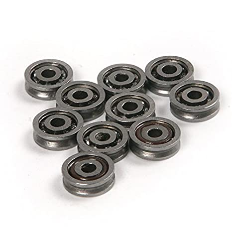3x12x4mm Atoplee 20pcs High Carbon Steel Wire V Groove Pulley Bearing