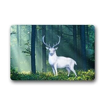 """Custom Machine-Washable Door Mat Deer Indoor/Outdoor Decor Rug Doormat 23.6""""(L) x 15.7""""(W)"""