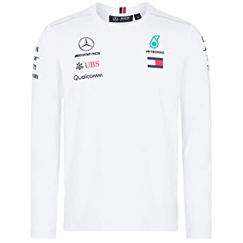 T manches Mercedes Blanc Petronas à Taille 2018 homme longues pour AMG Team shirt 141181060200LSXL ABvqwxT0x