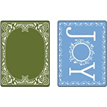 Sizzix Textured 2-Pack Impressions Embossing Folders for Scrapbooking, Holiday Joy Set by Jen Long-Philipsen