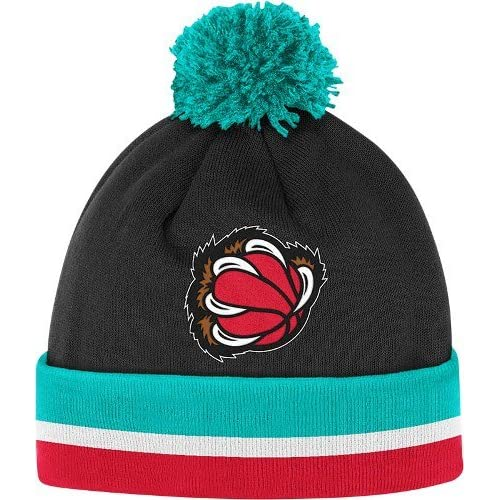 Mitchell & Ness Vancouver Grizzlies Jersey Stripe Cuffed Knit Hat