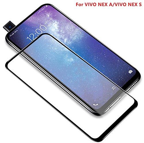 For VIVO NEX A/VIVO NEX S,2PCS DAYJOY 3D Full Cover Premium 9H Hardness  Tempered Glass Screen Protector film for VIVO NEX A/VIVO NEX S(BLACK)
