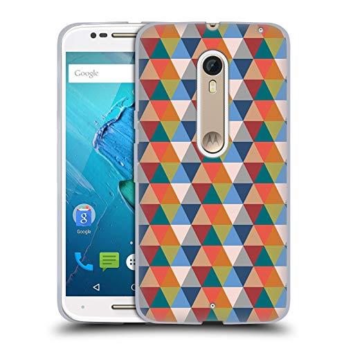 Official KookiePixel Retro Triangle Patterns 2 Soft Gel Case Compatible for Motorola Moto X -