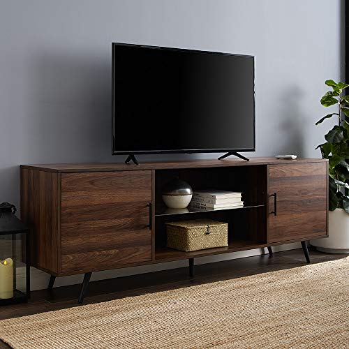 WE Furniture TV Stand 70 Dark Walnut