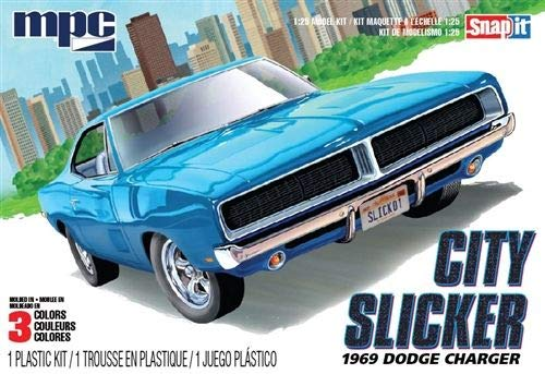 Dodge Model Kit - MPC 879M-100 City Slicker 1969 Dodge Charger Model Car Kit
