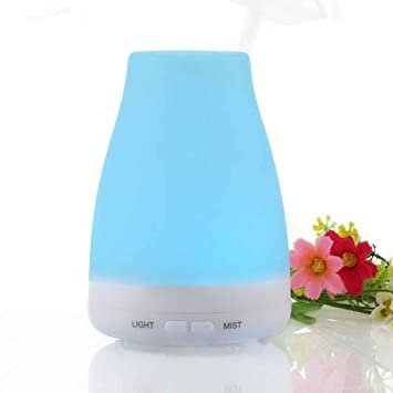 wholesale dealer b0936 9d96c Ultrasonic Humidifier Aromatherapy Diffuser LED Light 7 Color Change Dry  Protect Air Humidifier Mist Maker  Amazon.co.uk  Kitchen   Home