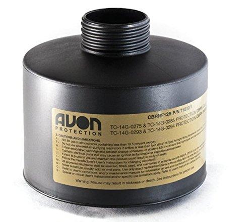 Filter, Gas Mask, Avon, CBRN FM12, Black, 3 Pack by Avon (Image #1)