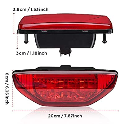 Tail Light Taillight Red Compatible with Honda TRX500 TRX420 Rancher Foreman 2007 to 2015: Automotive