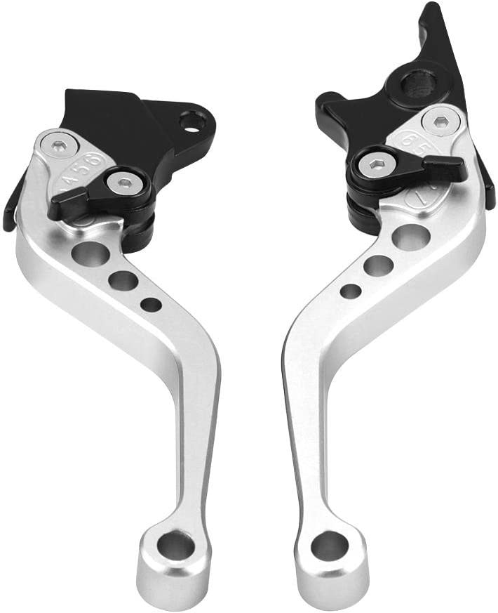 7//8 Motorcycle Break and Cutch Levers for Most Motorcycle Motorbike Pit Bike Moto Silver Universal Clutch Lever