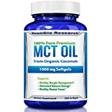 MCT Oil Capsules 100% from Organic Coconuts - 1000 mg 180 Softgels - Keto Friendly - Great Pills for Energy and Weight Management (1 Pack)