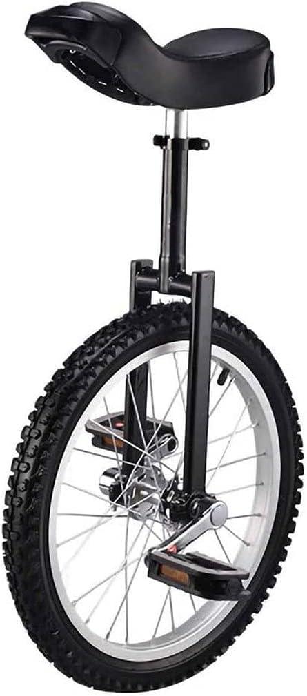 Bicicleta de equilibrio, monociclo, principiantes, niños, adultos, altura ajustable, antideslizante, neumático de montaña, rueda de bicicleta acrobática, equilibrio, ejercicio de ciclismo, con sopor