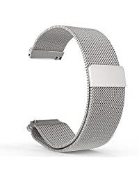 Fitbit Blaze Watch Band, MoKo Milanese Loop Stainless Steel Bracelet Smart Watch Strap for Fitbit Blaze Smart Fitness Watch with Unique Magnet Lock, No Buckle Needed, Frame Not Included - SILVER