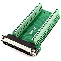 DB37 D-SUB Male Adapter to 37Pin Terminal Two Row Screw Breakout Board