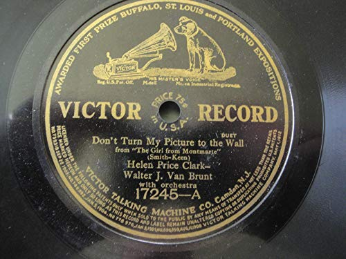 Don't Turn My Picture to The Wall and When It's Apple Blossom Time in Normandy 1915 Victor Record 78rpm
