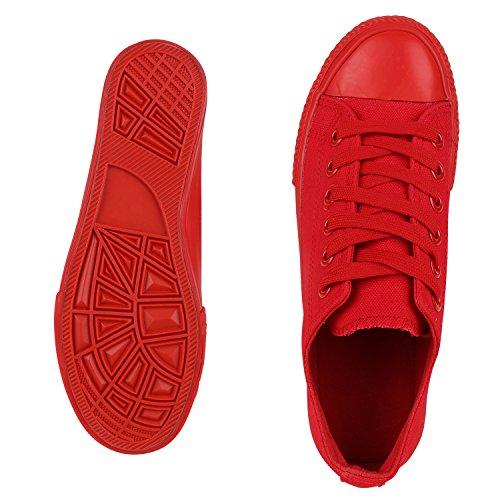 Best-botas para mujer zapatilla zapatillas zapatos de cordones estilo deportivo Rot Rosso Nuovo