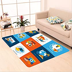 Sophiehome skid Slip rubber back antibacterial Area Rug finance design concept set of decorative elements for banking investment startup saving money stock 353251976 Home Decorative
