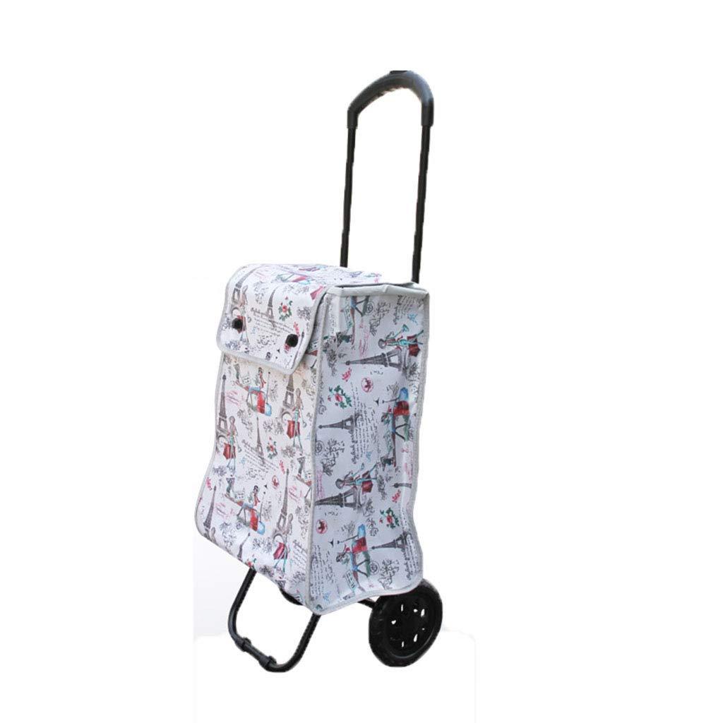 折り畳み式のショッピングカート荷物カートを伸ばすためにポータブル簡単ショッピングバッグを持つ伸縮式の引っ張りロッドショッピングカート (色 : YZTC-235 shopping cart) B07L74KC87 YZTC-235 shopping cart