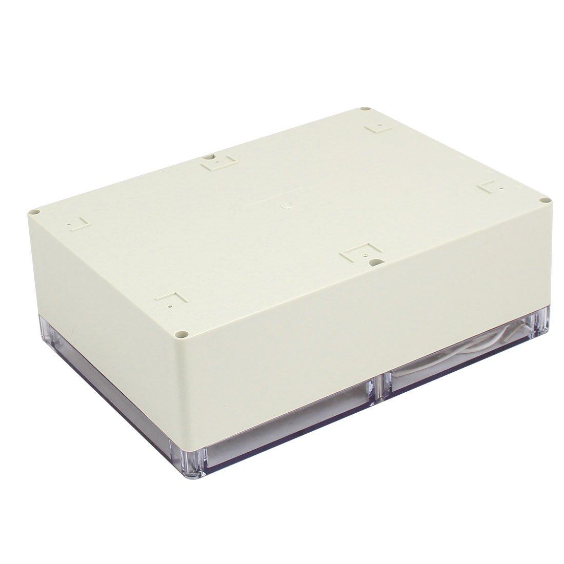 sourcing map 290mm x 210mm x 100mm couvercle transparent Housse en ABS IP65 Bo/îte jonction /électrique