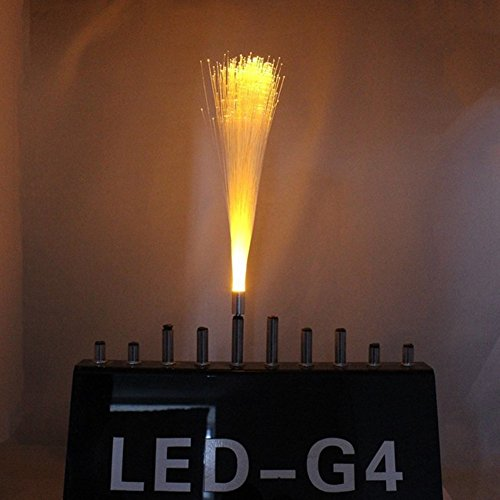 - LED Fibre Optic Decoration Fibre Optic Decorations Light DC12V 3W G4 (Color : Yellow)