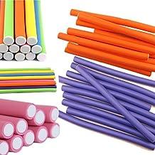 Fangfei® Pack of 40 Hair Curling Flexi Rods Magic Air Hair Roller Curler Bendy Hair Sticks Random Colors