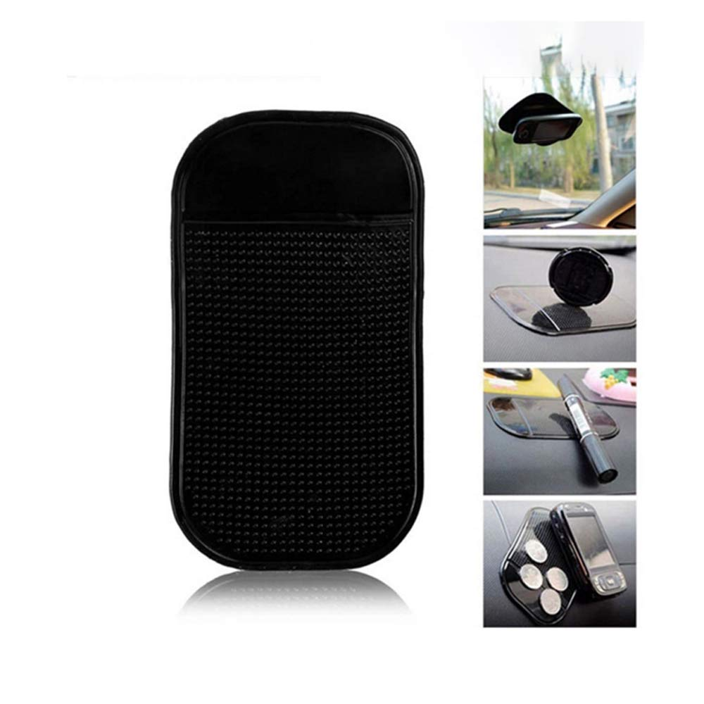 Coins Cup in Car Black Anti-Slip Dash Grip Mount Holder Mat for Cell Phone Keys Anti- Slip Dash Board Phone Holder Home or Office Non Slip Dashboard Mat Sticky Gel Pads Sunglasses