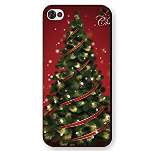 Painted XMAS Series Protective Skin Back Shell Case Cover with Santa Claus & Christmas Pattern Snap-on Case Cover for iPhone 5C