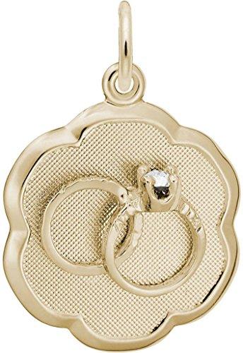 Rembrandt Elegant Wedding Rings Charm - Metal - 10K Yellow (Rembrandt 10k Ring)
