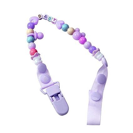 Cadena de cuentas para bebés, con clip para chupete anti ...