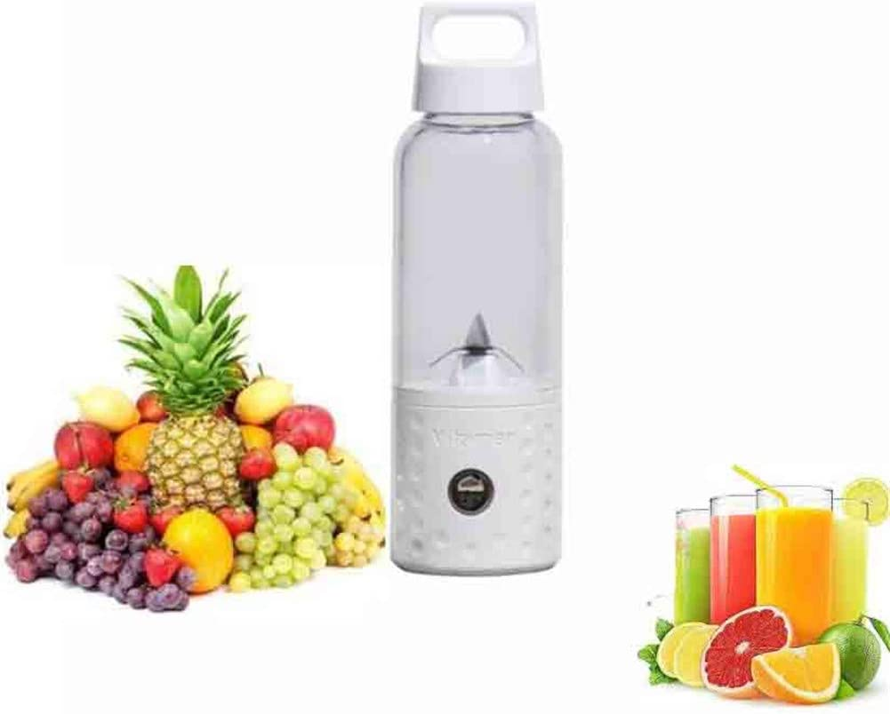 CSPFAIRY Vitamin Juice Cup, USB Electric Juicer Blender, Mini Portable Blender, 500ml Mixer(White)