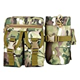 Meanhoo Extreme Zipper Waist Bag Outdoor Sports Fanny Pack Waist Pack Pouch Hip Belt, Running Belt Bag Pouch Fanny Pack for Hiking Cycling Climbing Travel - camouflage